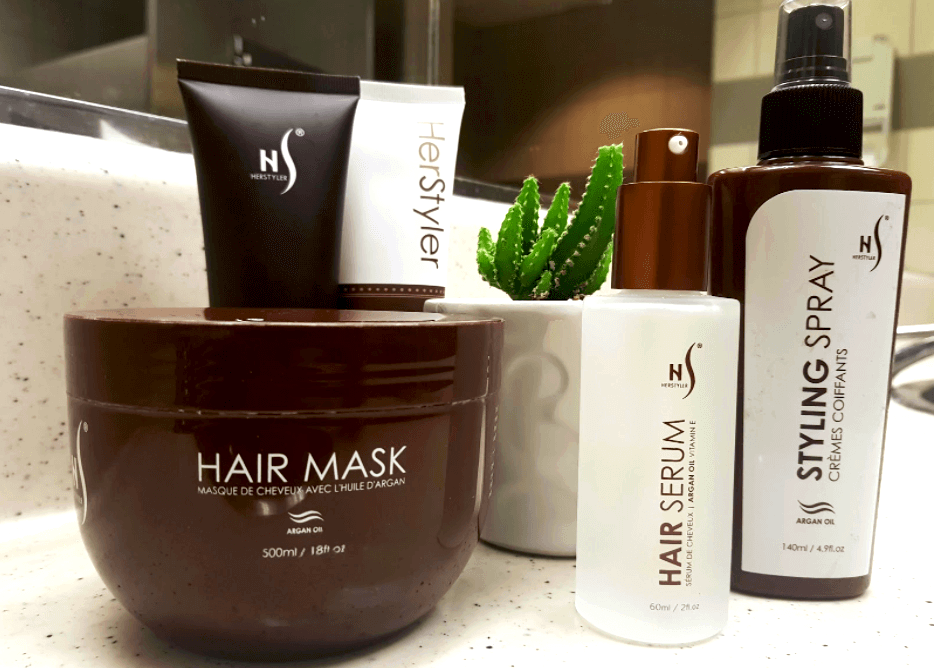 Herstyler Argan Oil Complete Hair Care Set product review