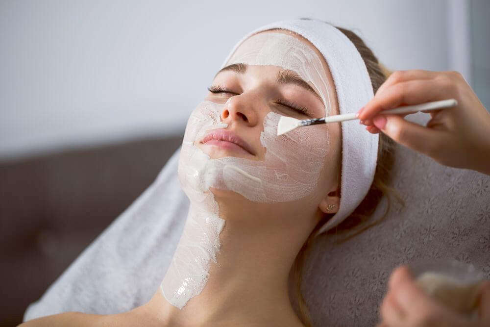 Woman enjoying chemical peel