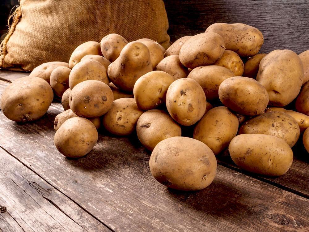 potatoes and sack