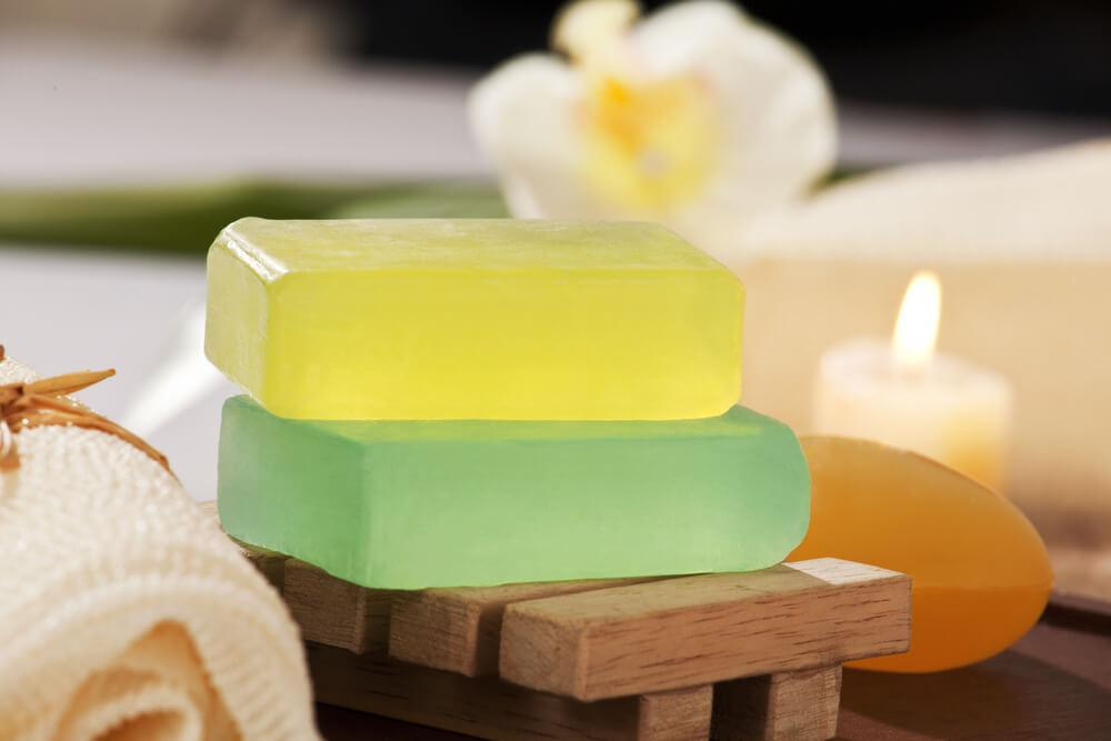 2 bars of glycerin soap