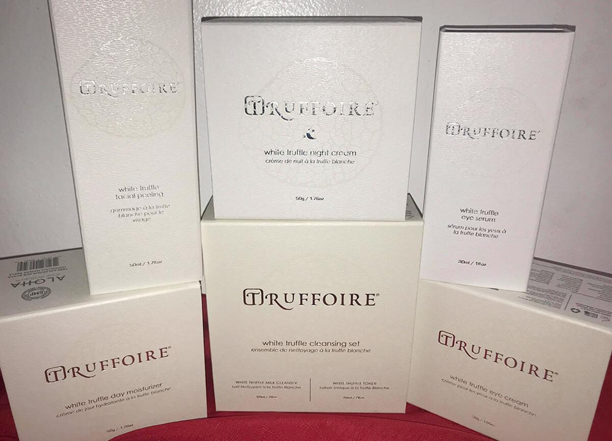 Truffoire products in boxes