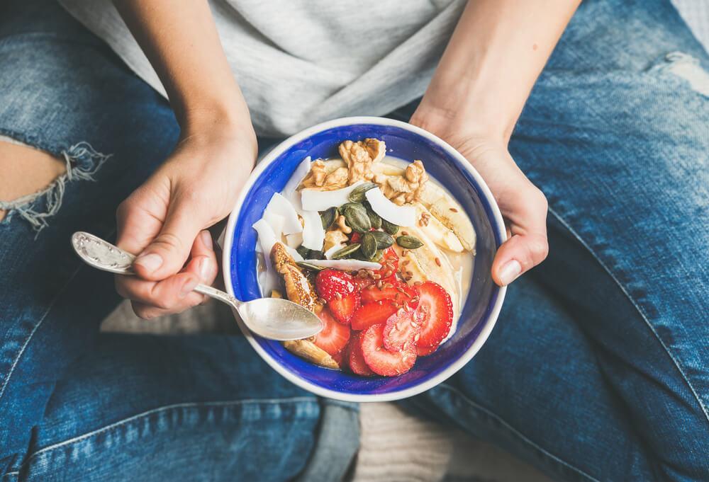 Healthy food in bowl